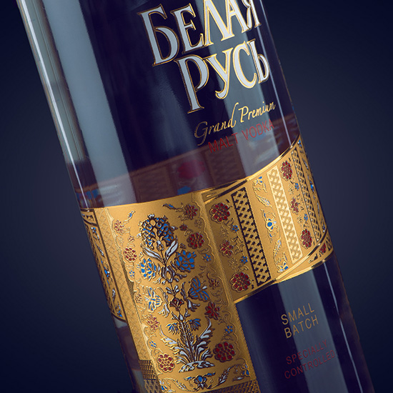BELAYA RUS' — Vodka design