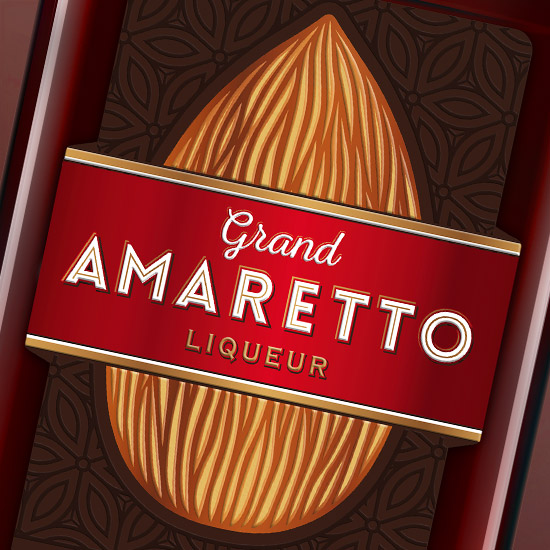GRAND AMARETTO — Liqueur Design