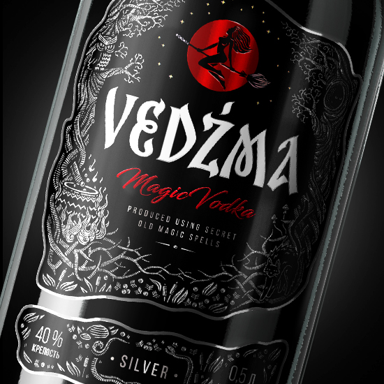 VEDZMA — Vodka design